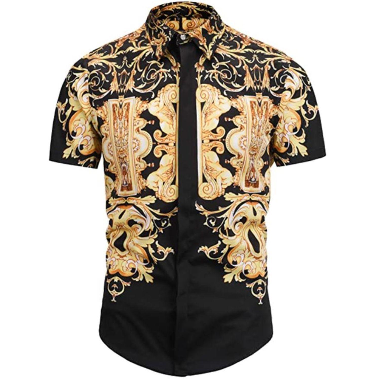 camisa estampado barroco hombre