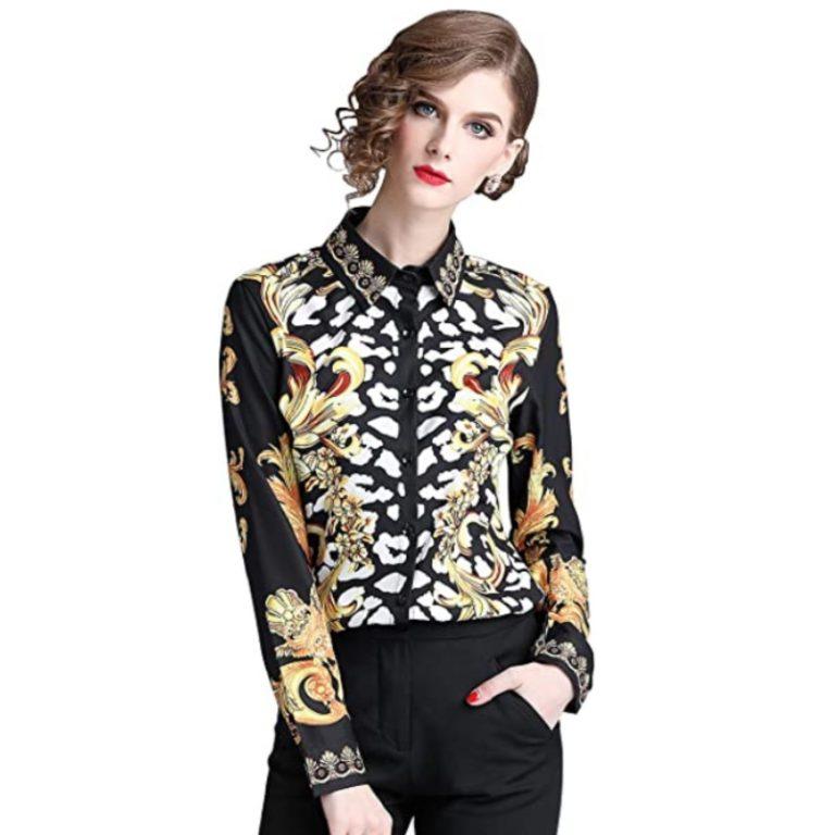 camisa estampado barroco mujer