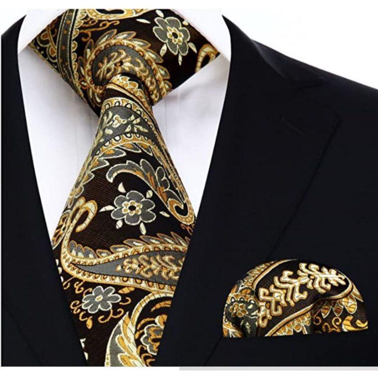 corbata paisely barroca