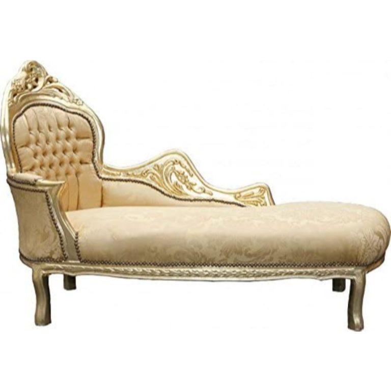 chaise longue barroco dorado