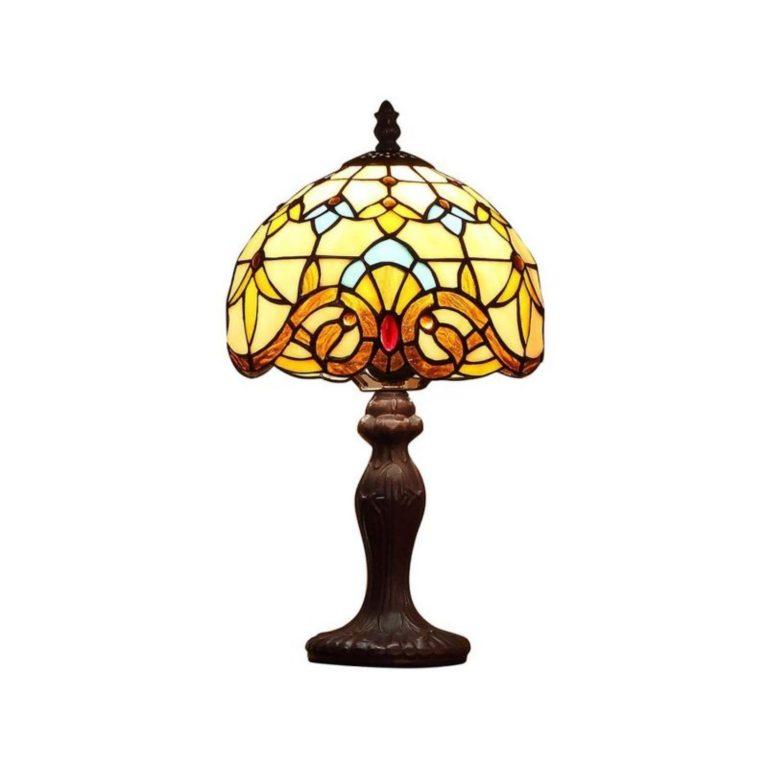 lampara tiffany de mesa diseño barroco