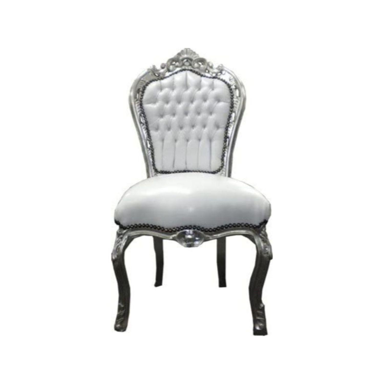 silla barroca blanca